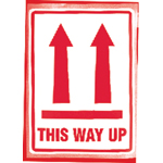 This Way Up (With arrows up symbol)   Parcel Warning Labels 108mm x 79mm