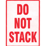 Do Not Stack Parcel Warning Labels 108mm x 79mm