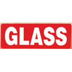 Glass Parcel Warning Label 89mm x 32mm