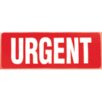 Urgent Parcel Warning Label 89mm x 32mm
