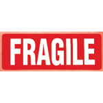 Fragile Parcel Warning Label 89mm x 32mm