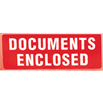 Documents Enclosed Parcel Warning Label 89mm x 32mm