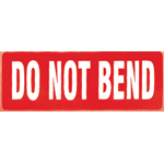 Do Not Bend Parcel Warning Label 89mm x 32mm
