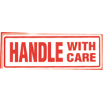 Handle With Care  Parcel Warning Label 148mm x 50mm